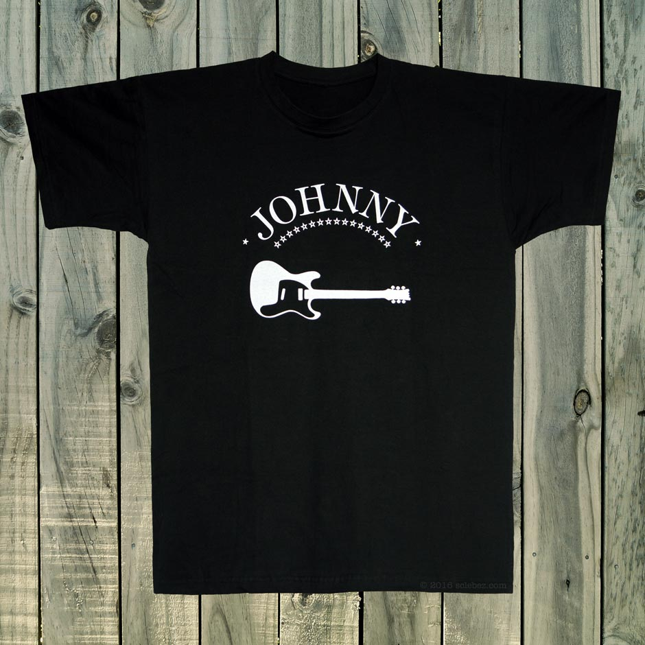 Johnny Ramone Guitar T Shirt Sclebez Handmade Screen Print